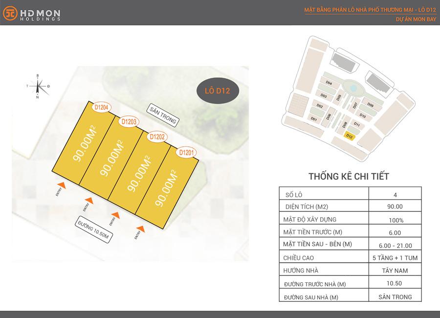 Shophouse Mon Bay lô D12